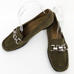Cole Haan olive green loafer flats 6